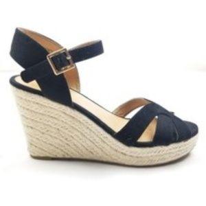 American Eagle AE Blue Wedge Espadrilles Shoes NWT